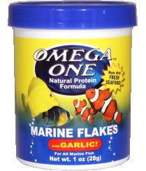 OmegaOne Garlic Marine Flakes 2,2oz /Хлопья для морских рыб с чесноком, 62 гр.