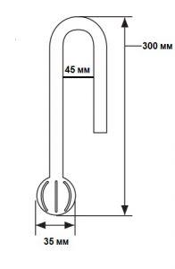 ADA Do!aqua Poppy Glass PV-2 13D / Заборная трубка, диаметр 13 мм