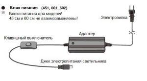 ADA AQUASKY MOON 601 Adapter C-Plug - Адаптер для светильника AQUASKY MOON 601 с евровилкой