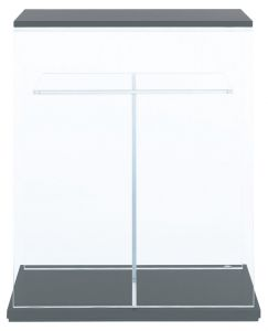 Woodbase Board for Cube Cabinet W60xD30 (Gun Metallic Silver) 1 unit/Деревянная панель для стеклянной тумбы 60х30 - одна шт.