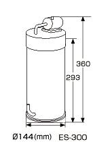 Super Jet Filter ES-300 Ver.2 (SPIN TYPE) С Plug / Внешний фильтр для аквариумов до 36 л с евровилкой