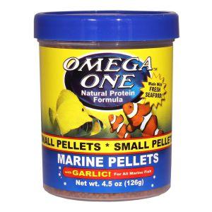 OmegaOne Garlic Marine Pellets 4.5 oz /Гранулы мелкие тонущие для морских рыб с чесноком, 126 гр.
