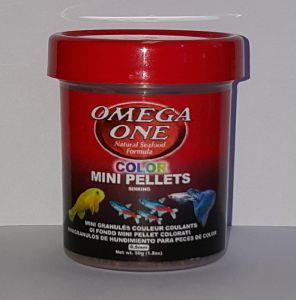 OmegaOne Color MINI Pellets 1,8 oz/ МИНИ гранулы тонущие Суперцвет, 50 гр.