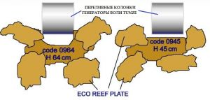 Reef scene/flat/ H 45 cm / Колонна